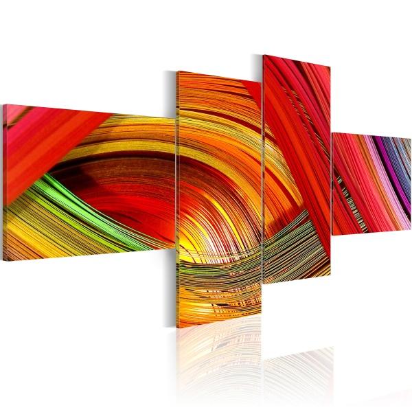Obraz - Kolorowe paski (100x45 cm) A0-N1346