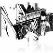 Obraz - Koncert jazzowy na tle nowojorskich wieżowców - 5 częsci A0-N1847
