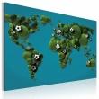 Obraz - Kontynenty okrągłe jak piłka A0-N2037