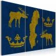 Obraz - Królestwo Szwecji - tryptyk A0-N2124