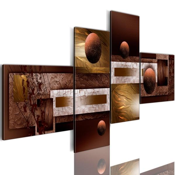 Obraz - Kule i tekstury (100x46 cm) A0-N1082