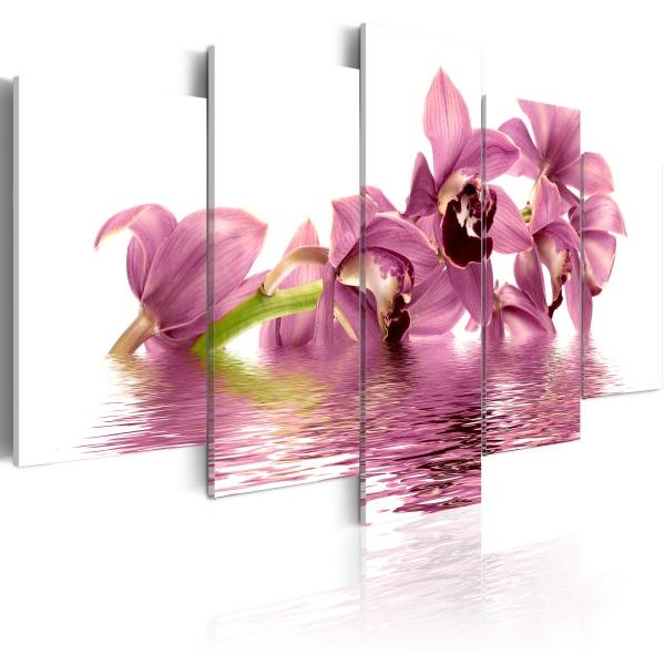 Obraz - Lilie zanurzone w wodzie (100x50 cm) A0-N1088