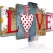 Obraz - LOVE - handmade A0-N3001