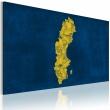 Obraz - Malowana mapa Szwecji A0-N2177
