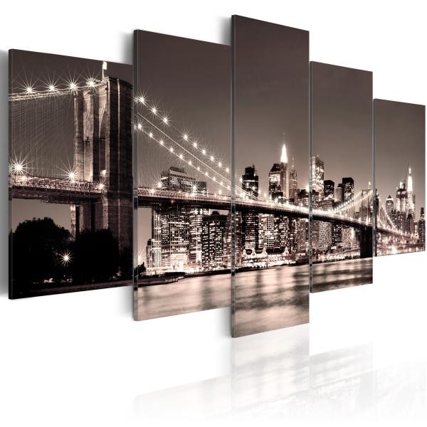Obraz - Manhattan-Most Brookliński II (100x50 cm) A0-N1309