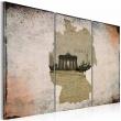 Obraz - map: Germany, Brandenburg Gate - triptych A0-N2121