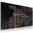 Obraz - Map of Spain on the blackboard - triptich A0-N2066