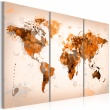 Obraz - Map of the World - Desert storm - triptych A0-N2530