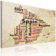 Obraz - Mapa: Hiszpańskie miasta A0-N2183