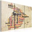 Obraz - Mapa: Hiszpańskie miasta - tryptyk A0-N2132