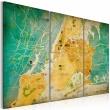 Obraz - Mapa Nowego Jorku: dzielnice A0-N3094
