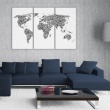 Obraz - Mapa świata - alfabet - tryptyk A0-N2103