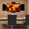 Obraz - Mapa świata - Gorąca lawa A0-N2621