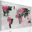 Obraz - Mapa świata (Język francuski) A0-N2199