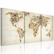 Obraz - Mapa świata - kwadraty A0-N2088