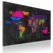 Obraz - Mapa świata - nazwy państw w języku włoskim A0-N2159