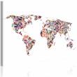 Obraz - Mapa świata - piksele A0-N2167