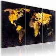 Obraz - Mapa świata - ruchome piaski A0-N2016