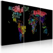 Obraz - Mapa świata - tekst A0-N2011