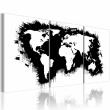 Obraz - Mapa świata w czerni i bieli A0-N2089