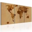 Obraz - Mapa świata w kolorze kawy A0-N2012