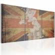 Obraz - Mapa Wielkiej Brytanii (Vintage) A0-N2082