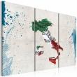 Obraz - Mapa Włoch - tryptyk A0-N2112