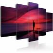 Obraz - Mężczyzna podziwiający zachód słońca A0-N1866