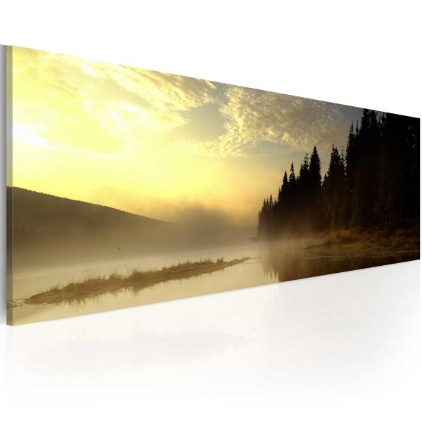 Obraz - Mgła nad jeziorem (120x40 cm) A0-N1221