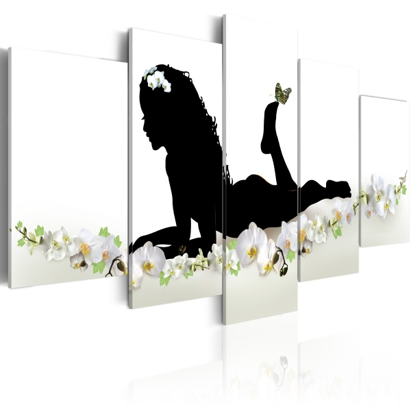 Obraz - Miętowa melodia (100x50 cm) A0-N1108