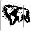 Obraz - Monochromatyczna mapa świata - tryptyk A0-N2113