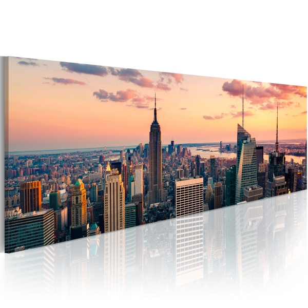 Obraz - Morze wieżowców - NYC (120x40 cm) A0-N1199