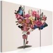Obraz - Motyle, kwiaty i karnawał A0-N1841
