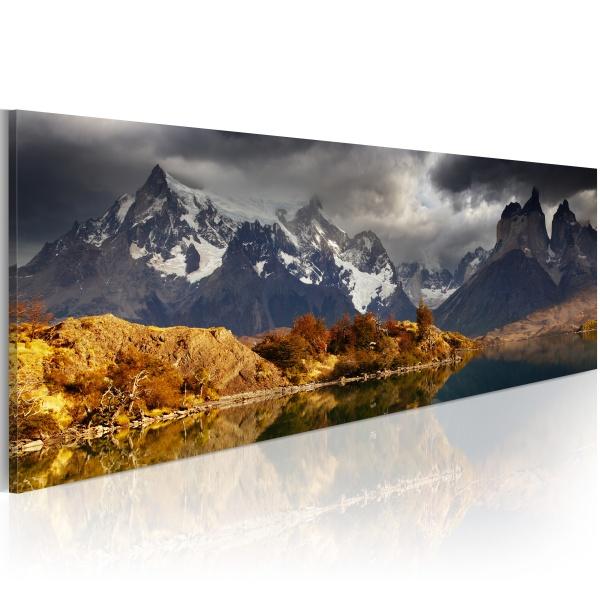 Obraz - Mountain landscape before a storm (120x40 cm) A0-N1229