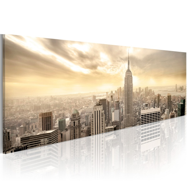 Obraz - New York City among the clouds (120x40 cm) A0-N1196