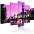 Obraz - Night urban city skyline - Melbourne A0-N2574