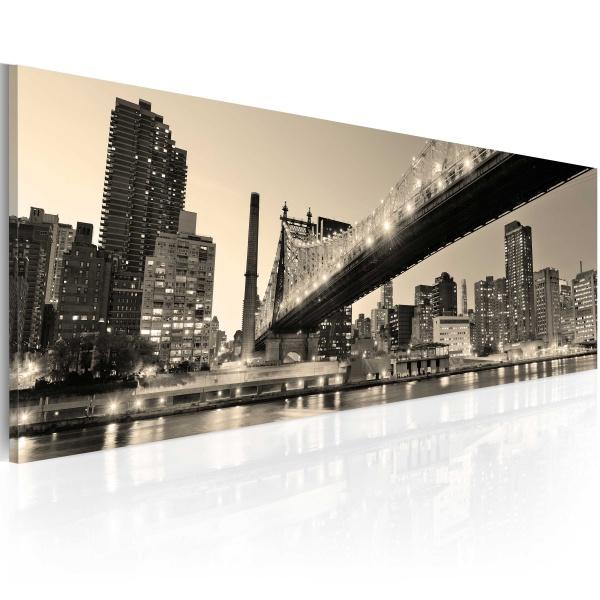 Obraz - NYC - night tales (120x40 cm) A0-N1215