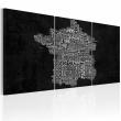 Obraz - Od Montpelier do St-Etienne (czarno-biały) A0-N2069