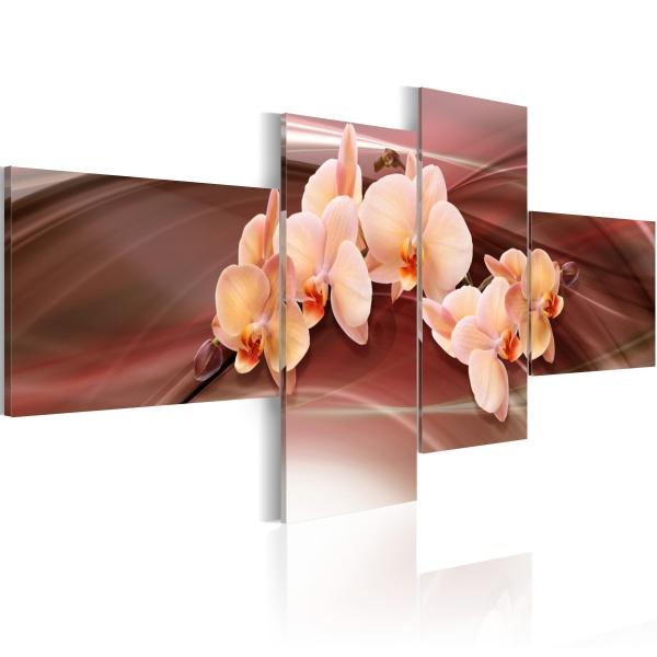 Obraz - Orchidea na przygaszonym tle (100x45 cm) A0-N1330