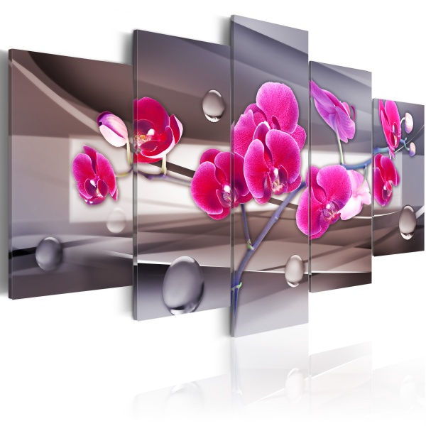 Obraz - Orchidea na stonowanym tle (200x100 cm) A0-N1051-DKX