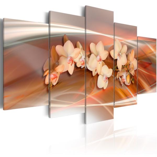 Obraz - Orchidea w ciepłych szarościach (100x50 cm) A0-N1335