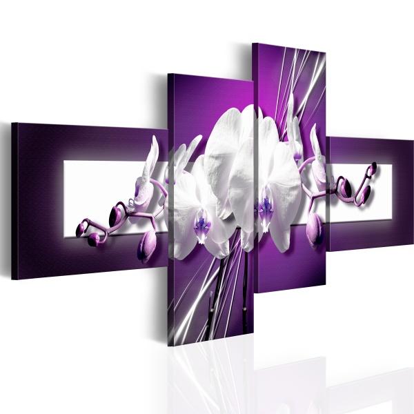 Obraz - Orchidee w fiolecie (100x46 cm) A0-N1275