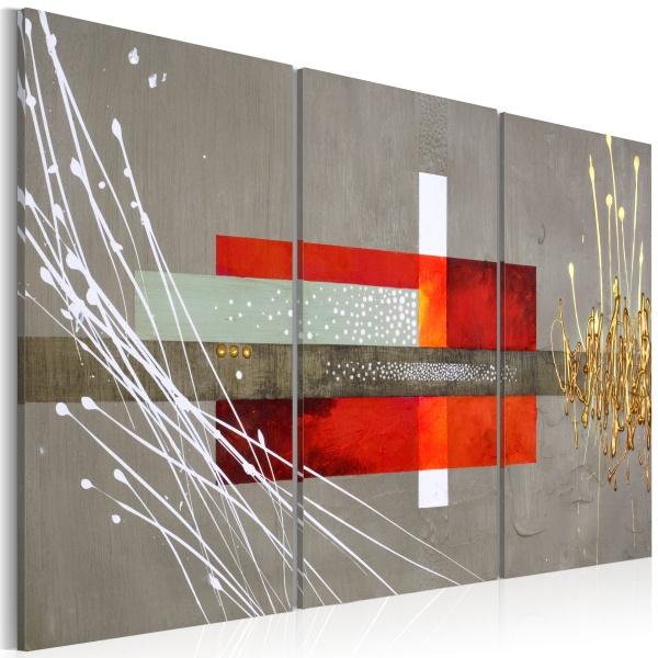 Obraz - Prostokąty, kwadraty – szary (60x40 cm) A0-N1294