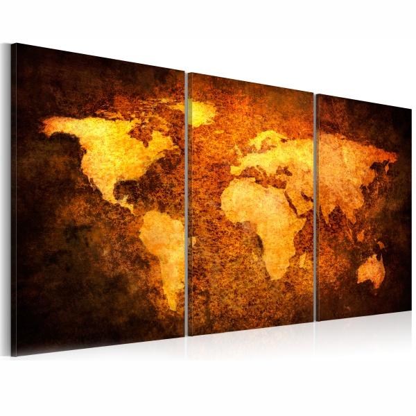 Obraz - Rdzawe kontynenty (120x60 cm) A0-N1292
