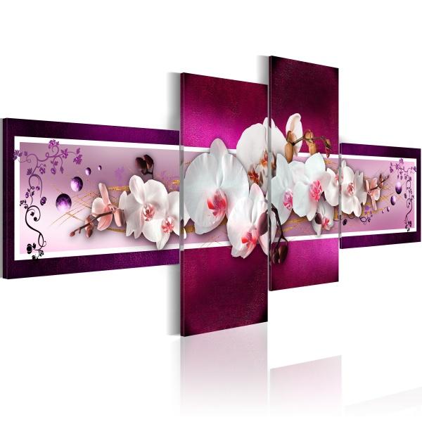 Obraz - Romantyczne orchidee (100x45 cm) A0-N1174