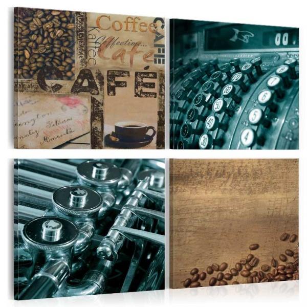 Obraz - Sklep z kawą (40x40 cm) A0-N1255