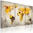 Obraz - Słoneczne kontynenty - tryptyk A0-N2055