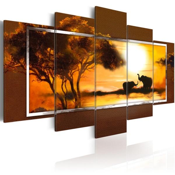 Obraz - Spotkanie nad sawanną (100x50 cm) A0-N1055