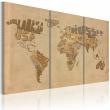 Obraz - Stara mapa świata - tryptyk A0-N2051