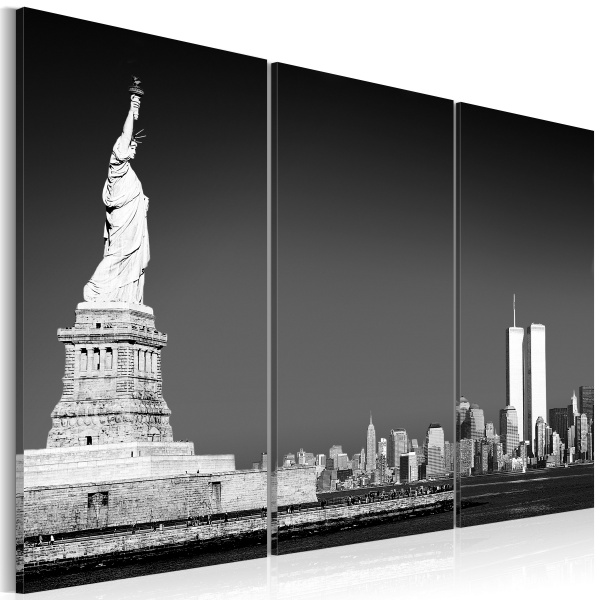 Obraz - Statua Wolności w szarościach (60x40 cm) A0-N1145